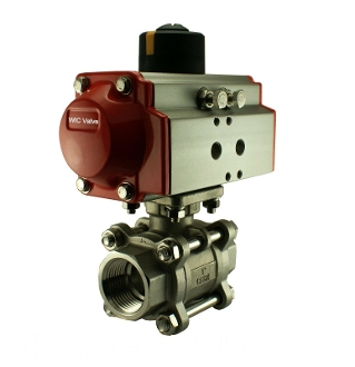Half Inch Double Acting Pneumatic Air Actuated Ball Valve
