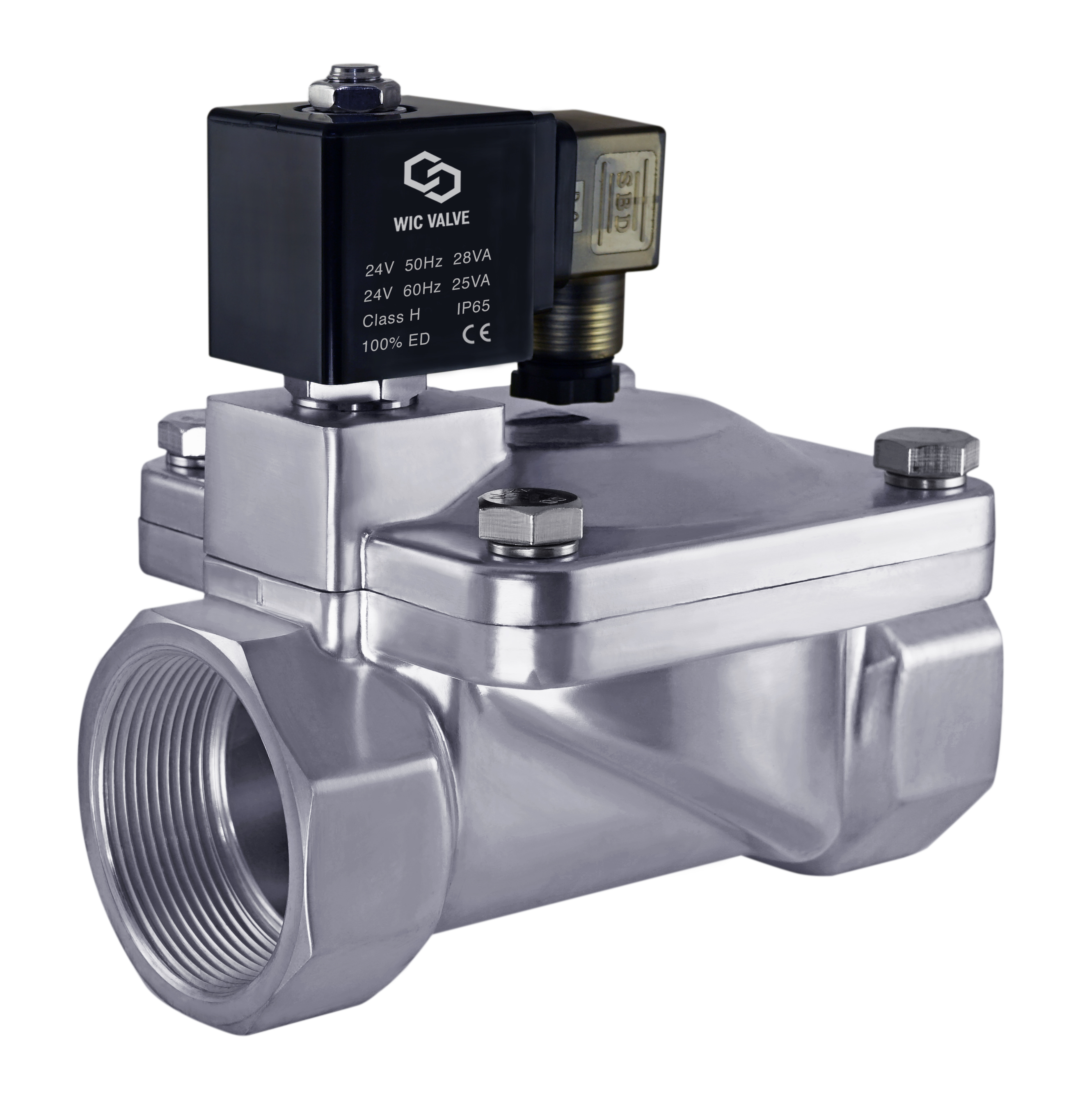 """3//4/"""" Inch Low Power Consumption Electric Air Water Solenoid Process Valve 12V DC"""