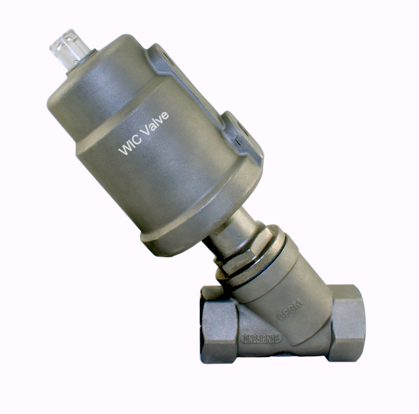 """1//2/"""" Stainless Steel Single Acting Air Actuated Angle Seat Pneumatic Steam Valve"""