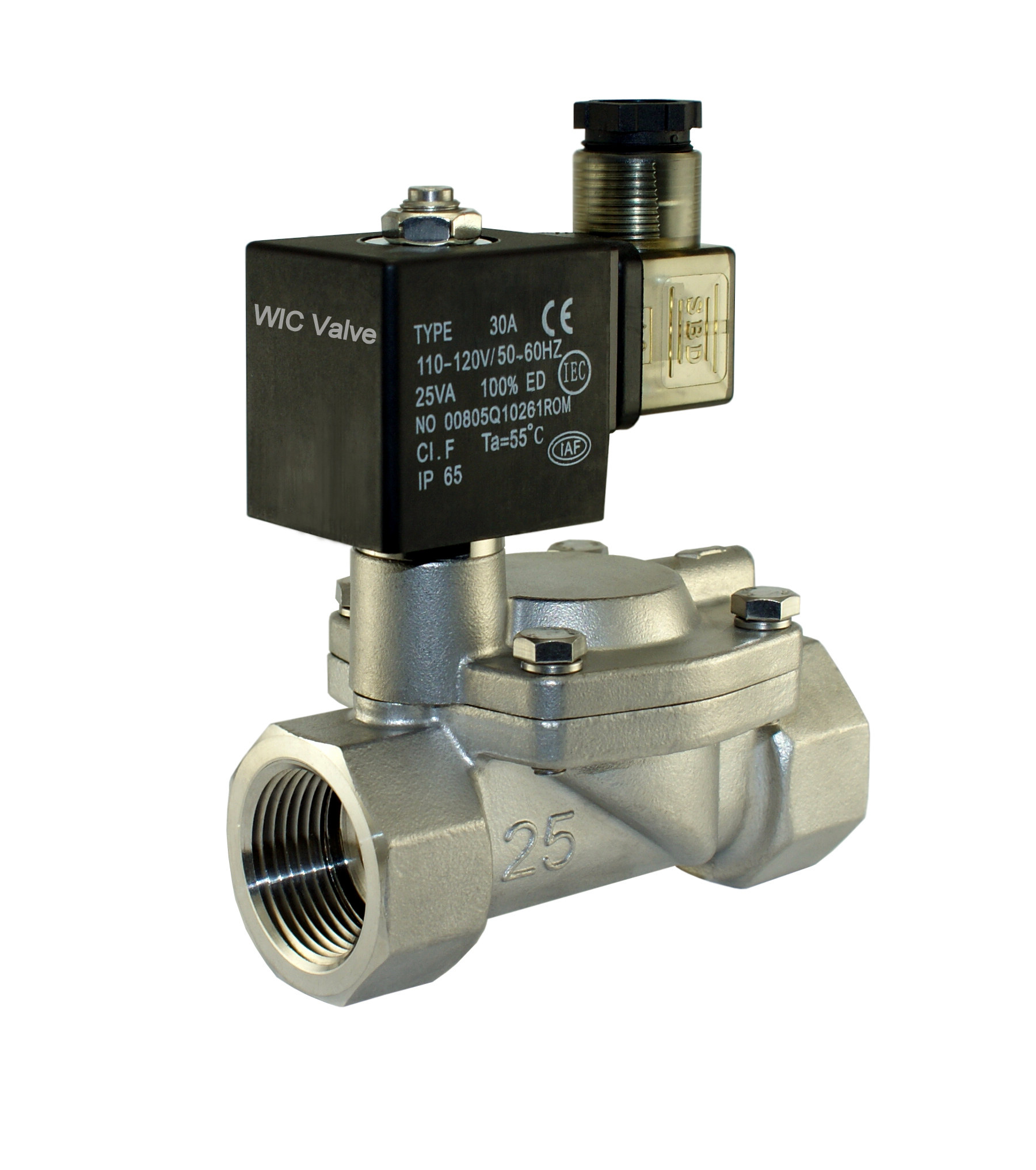 Slow Closing Water Hammering Resistant Electric Solenoid Valve NC 220V AC 1 Inch