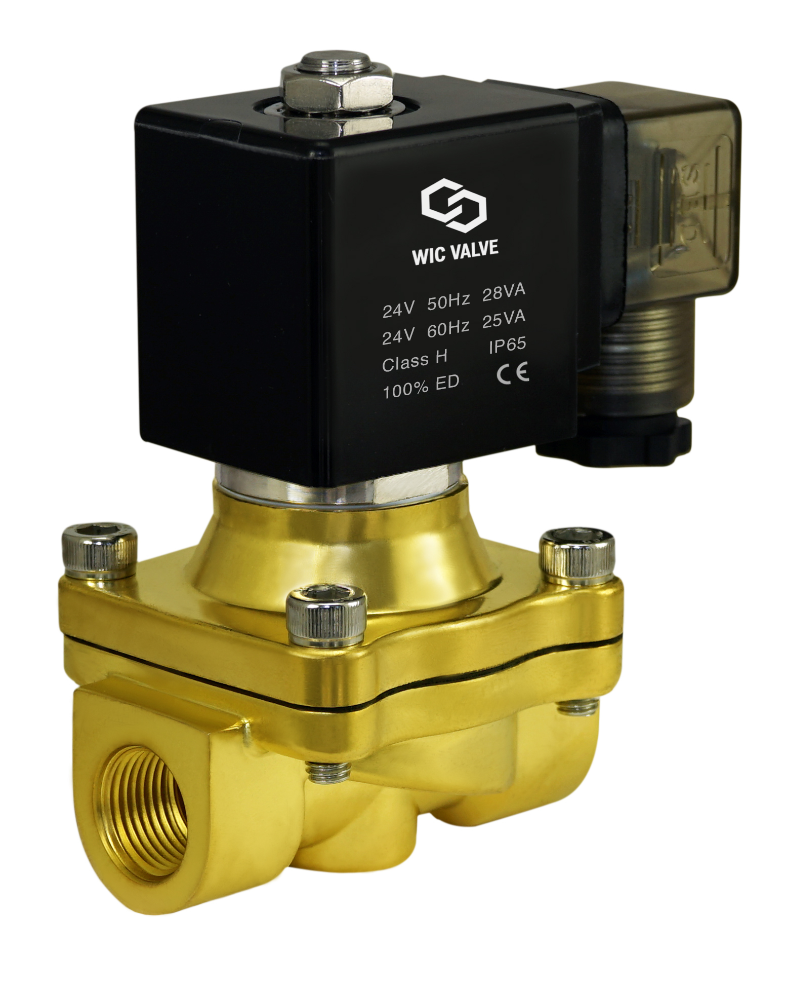 Electric Plastic Solenoid Air Water Zero Differential Process Valve 1 Inch 24VAC