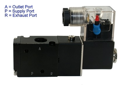 directional control solenoid valve, 3 way air valve, Air ... on